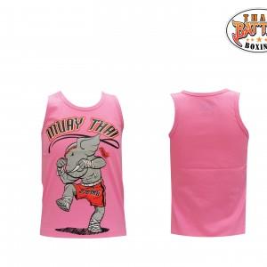 เสื้อกล้ามเด็กลายช้าง สีชมพู ใหม่