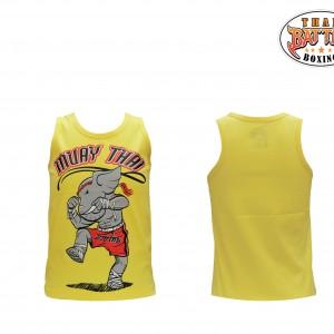 เสื้อกล้ามเด็กลายช้าง สีเหลือง ใหม่