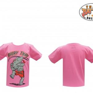 เสื้อเด็กลายช้าง สีชมพู ใหม่