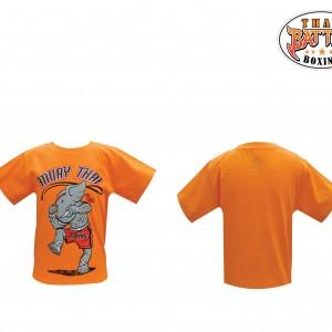 เสื้อเด็กลายช้าง สีส้ม ใหม่