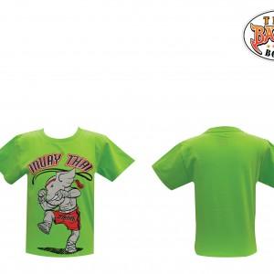 เสื้อเด็กลายช้าง สีเขียว ใหม่