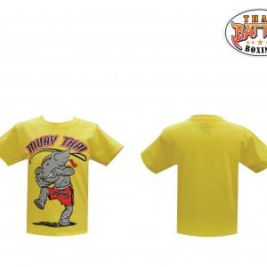 เสื้อเด็กลายช้าง สีเหลือง ใหม่