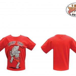 เสื้อเด็กลายช้าง สีแดง ใหม่