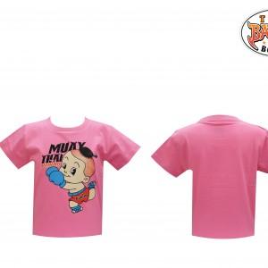 เสื้อเด็กลายเด็ก สีชมพู ใหม่