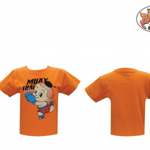 เสื้อเด็กลายเด็ก สีส้ม ใหม่